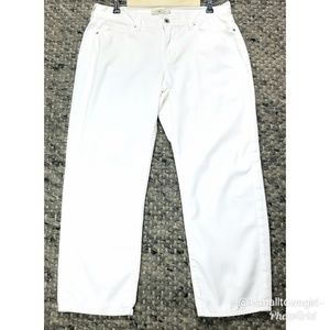 Lucky Brand Mollie crop white jeans 10/30